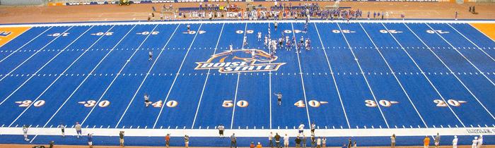Bronco Stadium in Boise, ID