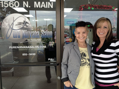Kim and Brandi at Pure Nirvana Salon